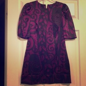French Connection purple and black tunic/minidress